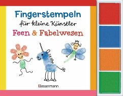Fingerstempeln für kleine Künstler-Set - Feen und Fabelwesen - Pautner, Norbert