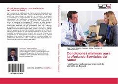 Condiciones mínimas para la oferta de Servicios de Salud