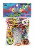 Rainbow Loom 22017 - Original Gummibänder Mix, 600 Stück inkl. 24 C-Clips
