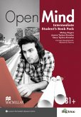 Intermediate: Open Mind. Student's Book with Webcode (incl. MP3) and Print-Workbook with Audio-CD + Key