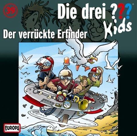 der verrückte erfinder / die drei fragezeichen-kids bd.39 audio-cd von ulf blanck - hörbuch