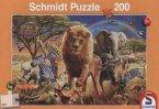 Afrikanische Tierwelt (Kinderpuzzle)