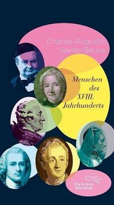 Menschen des XVIII. Jahrhunderts - Sainte-Beuve, Charles-Augustin