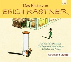 Das Beste von Erich Kästner, 3 Audio-CDs - Kästner, Erich