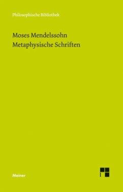 Metaphysische Schriften
