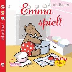 Eines der tollen Baby Pixi Bücher, im praktischen Softcoverformat: Emma spielt. Perfekt als Babybuch geeignet.