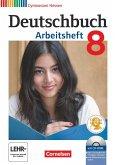 Deutschbuch Gymnasium 8. Schuljahr. Arbeitsheft mit Lösungen und Übungs-CD-ROM. Hessen G8/G9