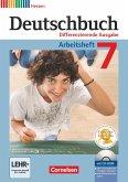 Deutschbuch 7. Schuljahr. Arbeitsheft mit Lösungen und Übungs-CD-ROM. Hessen