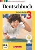 Deutschbuch 03: 7. Schuljahr. Arbeitsheft mit Lösungen und Übungs-CD-ROM. Realschule Baden-Württemberg