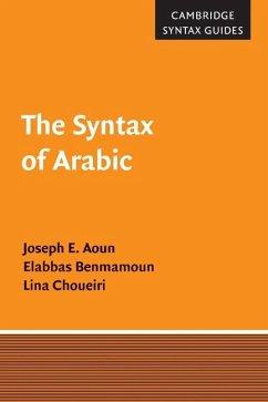 Syntax of Arabic