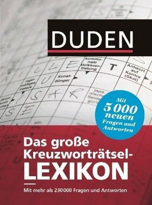 Duden Das Große Kreuzworträtsel Lexikon Portofrei Bei Bücher De