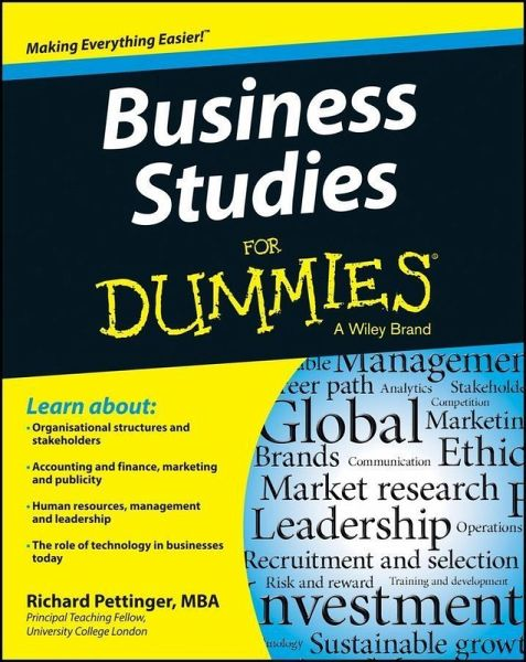 Business Studies For Dummies Ebook Pdf Von Richard Pettinger