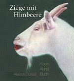 Ziege mit Himbeere