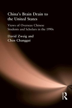 China'S Brain Drain To Uni Sta (eBook, PDF) - Zweig, David; Changgui, Chen