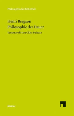 Philosophie der Dauer (eBook, PDF) - Bergson, Henri