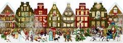 Nostalgisches Häuserleporello Adventskalender