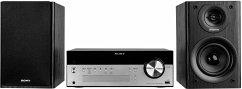 Sony CMT-SBT100B SBT100B Micro-HiFi-Anlage (DAB/DAB+, 50 Watt, CD-/CD-RW-Player, FM/AM, Bluetooth, NFC, USB), silber/schwarz
