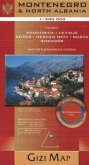 Gizi Map Montenegro & North Albania, Geographical Map