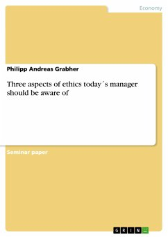 Three aspects of ethics today´s manager should be aware of