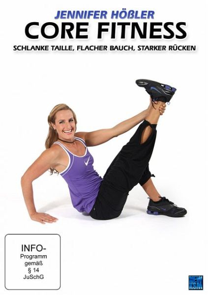 jennifer h ler core fitness schlanke taille flacher bauch starker r cken film auf dvd. Black Bedroom Furniture Sets. Home Design Ideas