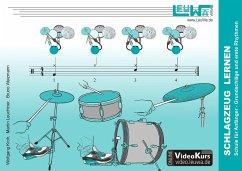 Schlagzeug lernen, Schule für Anfänger - Kroh, Wolfgang; Leuchtner, Martin; Waizmann, Bruno