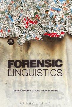 Forensic Linguistics (eBook, PDF) - Olsson, John; Luchjenbroers, June