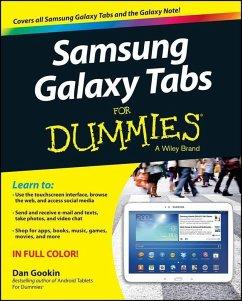 Samsung Galaxy Tabs For Dummies (eBook, PDF) - Gookin, Dan