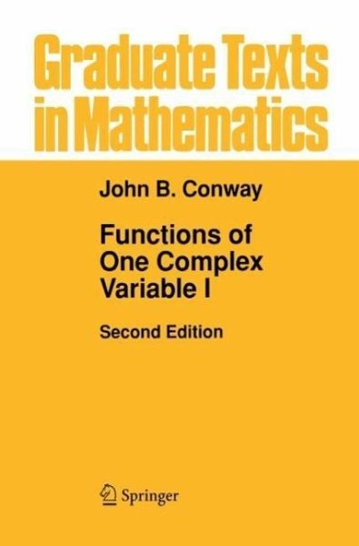 functions of one complex variable john b conway pdf