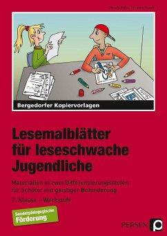 Lesemalblätter für leseschwache Jugendliche - Miller, Christa; Krauth, Susanne