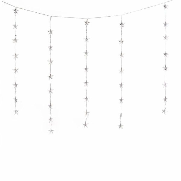 led lichterkette sternenvorhang portofrei bei b. Black Bedroom Furniture Sets. Home Design Ideas
