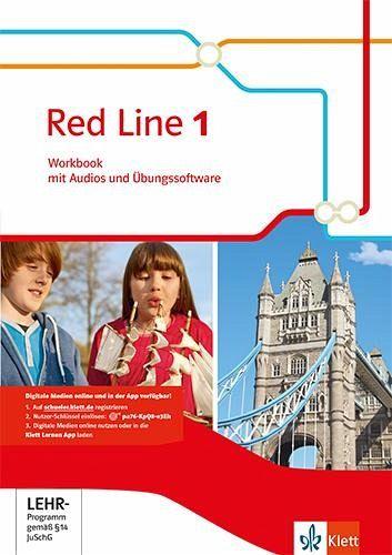 red line 1 workbook mit audio cd und lernsoftware ausgabe 2014 schulb cher portofrei bei. Black Bedroom Furniture Sets. Home Design Ideas