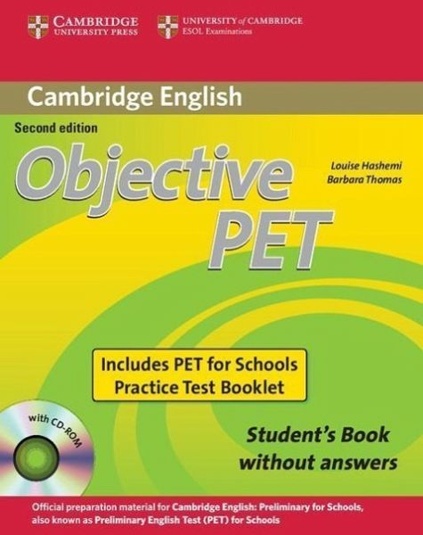 objective pet for schools practice test booklet with answers pdf