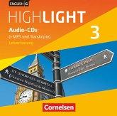 7. Schuljahr, Audio-CDs (+MP3 und Transkripte), Lehrerfassung / English G Highlight, Hauptschule Bd.3