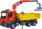 Bruder Baustellen LKW mit Kran + Schaufelgreifer