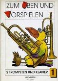 Zum Üben und Vorspielen, 2 Trompeten + Klavier