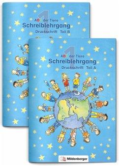 ABC der Tiere 1 · Schreiblehrgang Druckschrift Teil A und B - zu Lesen in Silben (Silbenfibel®) · Ausgabe Bayern - Kuhn, Klaus