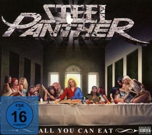 all you can eat cd dvd von steel panther auf cd dvd portofrei bei b. Black Bedroom Furniture Sets. Home Design Ideas