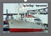 """Cap San Diego"" - Impressionen (Wandkalender immerwährend DIN A4 quer)"