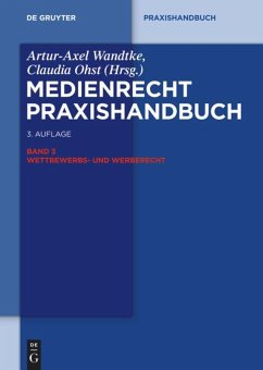 Medienrecht 3. Wettbewerbs- und Werberecht