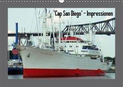 """Cap San Diego"" - Impressionen (Wandkalender immerwährend DIN A3 quer)"