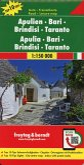 Freytag & Berndt Autokarte Apulien - Bari - Brindisi - Taranto, Top 10 Tips 1:150.000; Apulia, Bari, Brindisi, Taranto
