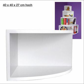 eck regal matt wei 40 x 40 cm bei b immer portofrei. Black Bedroom Furniture Sets. Home Design Ideas
