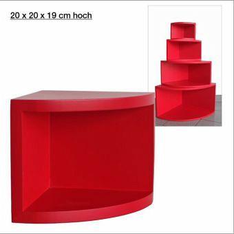 eck regal matt rot 20 x 20 cm bei b immer portofrei. Black Bedroom Furniture Sets. Home Design Ideas