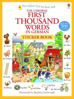 First Thousand Words in German Sticker Book - Amery, Heather