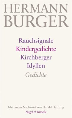 Rauchsignale. Kindergedichte. Kirchberger Idyllen (eBook, ePUB) - Burger, Hermann