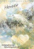 Herzen - Immerwährender Geburtstagskalender (Tischkalender immerwährend DIN A5 hoch)