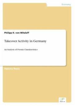 9783838652849 - Von Mitzlaff, Philipp H.: Takeover Activity in Germany - كتاب