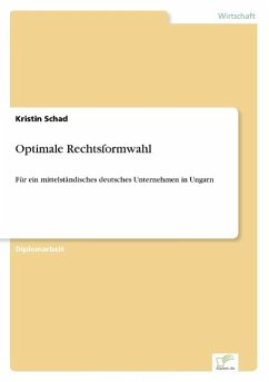Optimale Rechtsformwahl