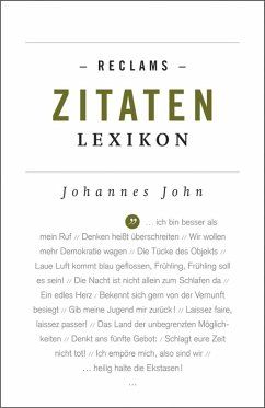 Reclams Zitaten-Lexikon (eBook, ePUB)