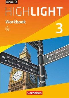 English G Highlight 03: 7. Schuljahr Hauptschule. Workbook mit Audios online - Berwick, Gwen; Thorne, Sydney